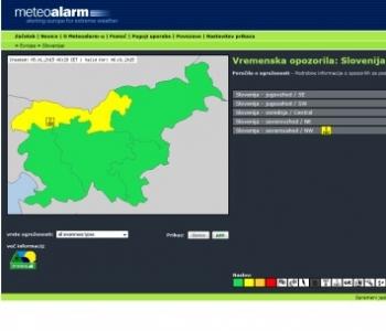 Meteoalarm-Vremenska opozorila